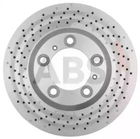 Вентилируемый тормозной диск с перфорацией на PORSCHE 911 'A.B.S. 18410'.