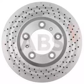 Вентилируемый тормозной диск с перфорацией на Порше 911 'A.B.S. 18411'.
