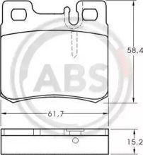 Гальмівні колодки на Mercedes-Benz W210 A.B.S. 36687.