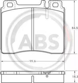 Тормозные колодки A.B.S. 36825.