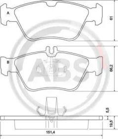 Гальмівні колодки 'A.B.S. 36903'.