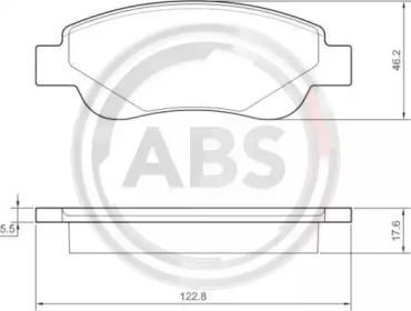 Гальмівні колодки A.B.S. 37483.