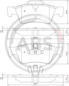 Гальмівні колодки на Mercedes-Benz Gl-Class  A.B.S. 37509.