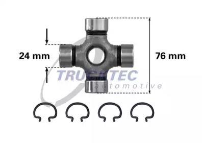 Крестовина карданного вала TRUCKTEC AUTOMOTIVE 02.34.004.
