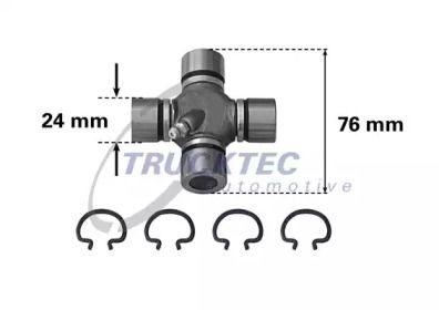 Хрестовина карданного валу TRUCKTEC AUTOMOTIVE 02.34.017.