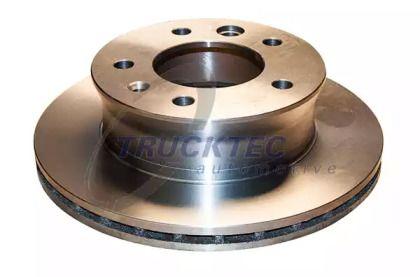 Вентилируемый передний тормозной диск на MERCEDES-BENZ VARIO 'TRUCKTEC AUTOMOTIVE 02.35.025'.