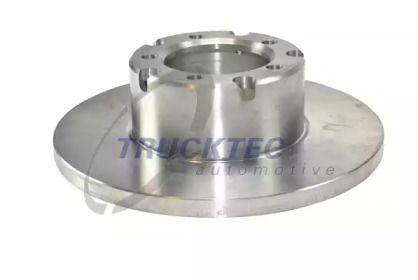 Передний тормозной диск на MERCEDES-BENZ T2 'TRUCKTEC AUTOMOTIVE 02.35.039'.