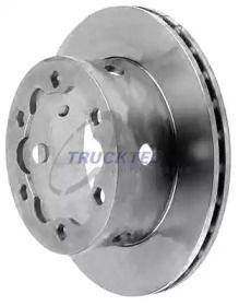 Вентилируемый задний тормозной диск на MERCEDES-BENZ VARIO 'TRUCKTEC AUTOMOTIVE 02.35.056'.