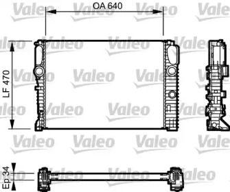Алюмінієвий радіатор охолодження двигуна на Мерседес W211 VALEO 732849.