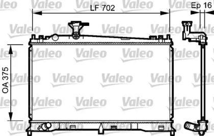Алюминиевый радиатор охлаждения двигателя 'VALEO 735053'.