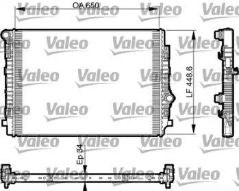 Алюмінієвий радіатор охолодження двигуна на Шкода Кодіак 'VALEO 735549'.