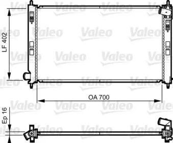 Алюмінієвий радіатор охолодження двигуна на Мітсубісі АСХ 'VALEO 735575'.