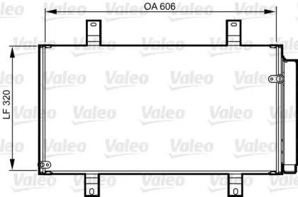 Радіатор кондиціонера на Мазда РХ8 VALEO 814215.