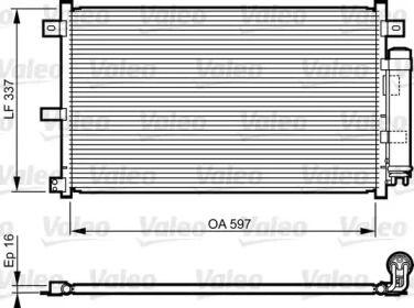 Радиатор кондиционера на MAZDA MX-5 VALEO 814227.