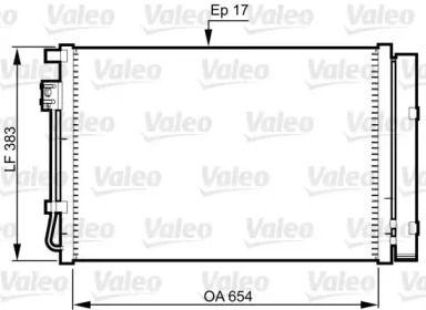 Радіатор кондиціонера VALEO 814362.