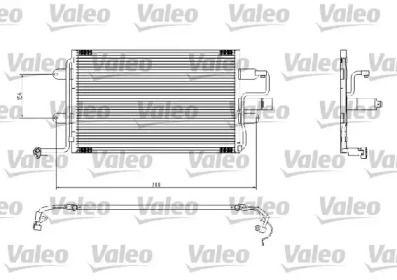 Радиатор кондиционера на VOLKSWAGEN GOLF 'VALEO 817244'.