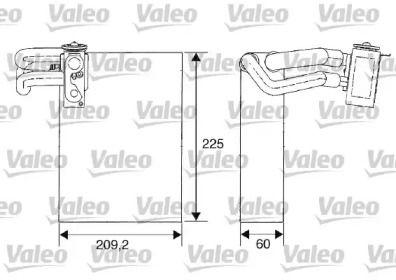 Випарник кондиціонера VALEO 817682.