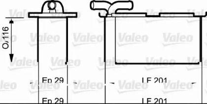 Интеркулер на SEAT ALTEA 'VALEO 818838'.