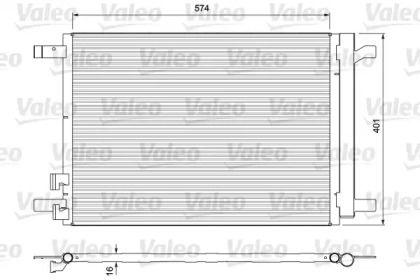 Радіатор кондиціонера на SKODA OCTAVIA A7 'VALEO 814375'.