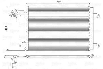 Радиатор кондиционера на SEAT LEON VALEO 817777.