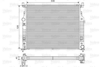 Алюмінієвий радіатор охолодження двигуна на Mercedes-Benz Gl-Class  VALEO 701569.