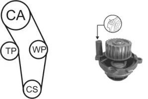 Комплект ГРМ с помпой на Сеат Альтеа AIRTEX WPK-170301.