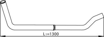 Приймальна труба глушника 'DINEX 28241'.