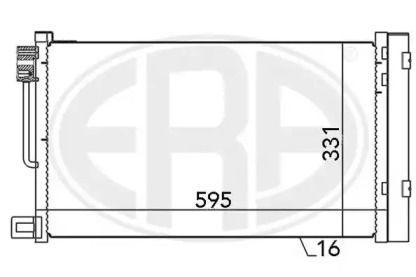 Радиатор кондиционера на Опель Адам 'ERA 667010'.