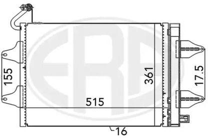Радіатор кондиціонера на Шкода Румстер 'ERA 667017'.