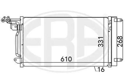 Радіатор кондиціонера на SKODA RAPID 'ERA 667026'.