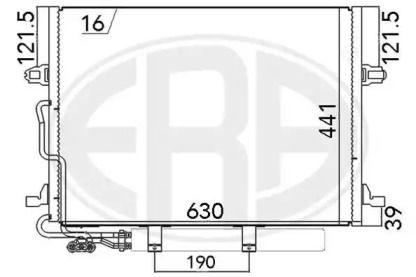 Радіатор кондиціонера на Mercedes-Benz W211 ERA 667033.
