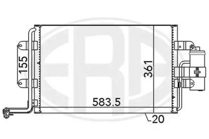 Радиатор кондиционера на Сеат Леон ERA 667062.