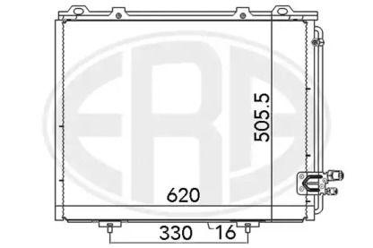 Радіатор кондиціонера 'ERA 667103'.