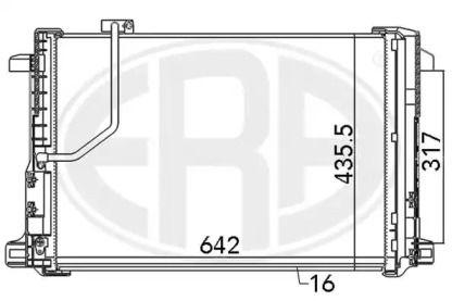 Радіатор кондиціонера на Мерседес W212 ERA 667111.