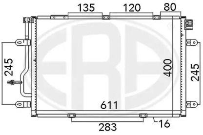 Радіатор кондиціонера ERA 667112.