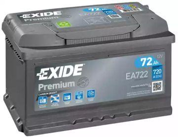 Аккумулятор на FORD S-MAX 'EXIDE EA722'.