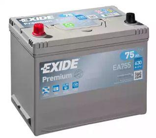 Акумулятор на NISSAN NAVARA 'EXIDE EA755'.