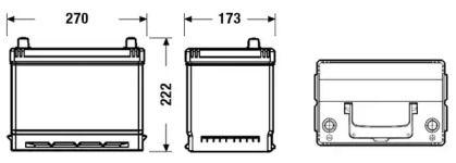 Акумулятор EXIDE EB704.