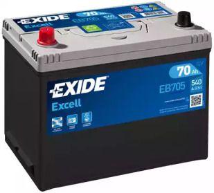 Акумулятор на Ніссан Навара 'EXIDE EB705'.