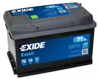 Аккумулятор на Форд С-макс 'EXIDE _EB712'.