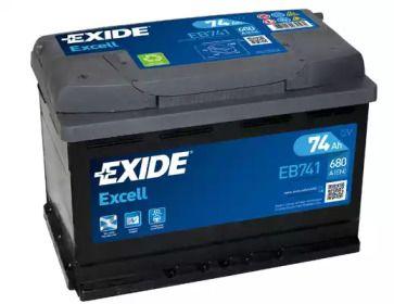 Акумулятор 'EXIDE _EB741'.