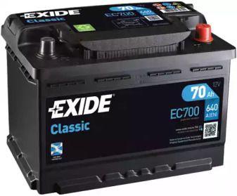 Аккумулятор на Шкода Октавия А5 'EXIDE EC700'.