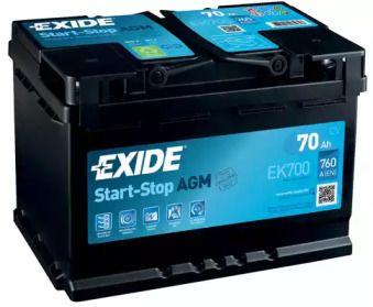 Акумулятор на Мерседес Гла  EXIDE EK700.
