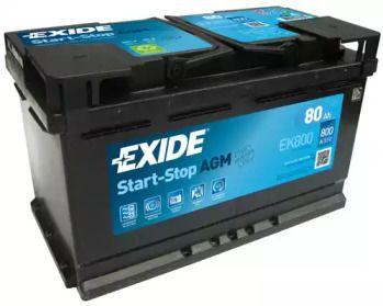 Акумулятор на Mercedes-Benz GLA  EXIDE EK800.