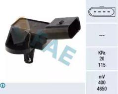 Датчик давления наддува на Шкода Октавия А5 'FAE 15033'.