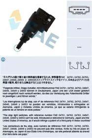 Выключатель стоп-сигнала на SEAT ALTEA 'FAE 24763'.