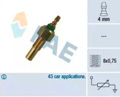 Датчик температури охолоджуючої рідини на Мазда Е Серія 'FAE 32170'.