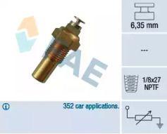 Датчик температури охолоджуючої рідини 'FAE 32230'.