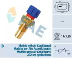 Датчик температури охолоджуючої рідини 'FAE 32290'.