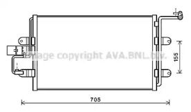 Радиатор кондиционера на SEAT LEON AVA AI5130.